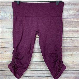 lululemon athletica Pants - Lululemon In The Flow II Ruched Berry Yum Crop